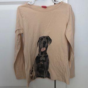 Crewcuts girls size 10 dog long sleeve T